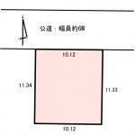 敷地図(公図拡大イメージ)